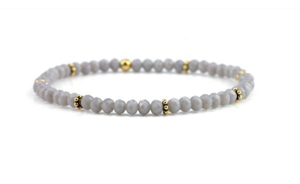 Elastisches Armband in Silber/ Gold, 925 Silber