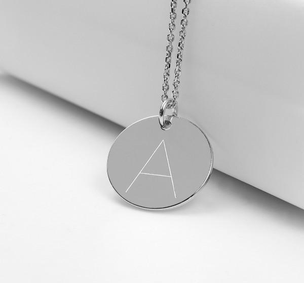 Halskette Buchstabenkette Wunschinitiale - personalisierter Schmuck 925 Silber