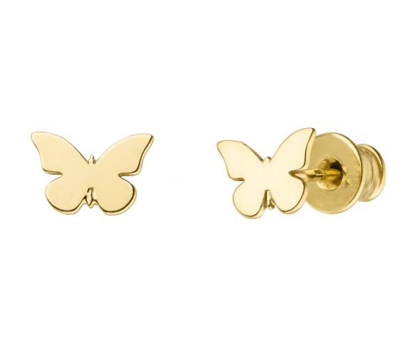 Schmetterling Ohrstecker | Ohrringe Schmuck minimalistisch 925 Silber vergoldet