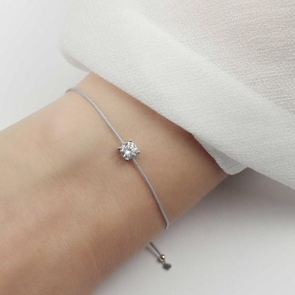 Armband Zirkonia 925 Silber - einfache Eleganz - minimalistischer Schmuck