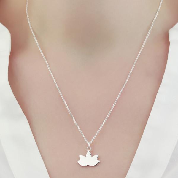 Halskette Lotus Lotusblume 925 Silber | Lotosblüte Seerose Schmuck