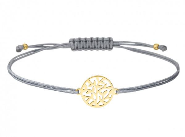 Armband Lebensbaum 925 Silber vergoldet | Baum des Lebens